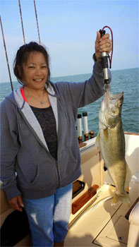 guided fishing trips on Lake Erie