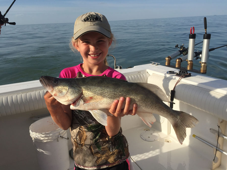 trophy walleye fishing lake erie - big walleye guided trip