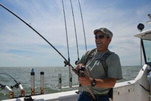 military vet fighting Lake Erie walleye