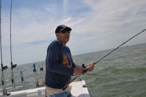 military vet fights Lake Erie walleye on VA trip